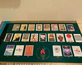 One Hundred Years of Olympic Games Poster