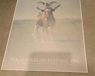 Texas Folklife Festival 1991 Poster