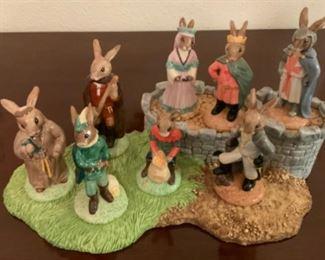 Royal Doulton Bunnykins Robin Hood Collection With Base