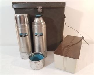 Vintage Thermos Travel Set
