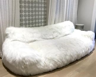 RHTEEN  BERLIN KASHMIR FAUX FUR SOFA Was $650  Now $475 Cyber Monday $325