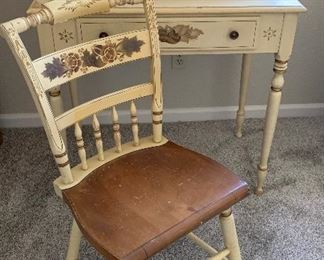 Ethan Allen Desk and L. Hitchcock Chair