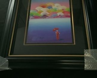 "Peter Max Image of an Era   17 5/8"" x 13 7/8""                     Beautiful Framed W- 30 x H- 33 1/4"""
