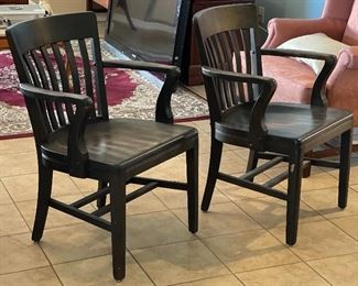 2pc Sikes Co Vintage Arm Chairs PAIR33x23x31inHxWxD