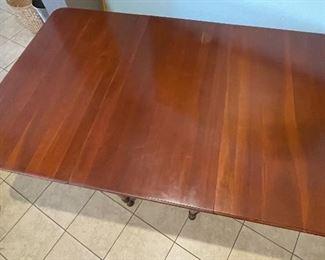 Vintage Hardwood Drop Leaf Table30x38x21.5-60inHxWxD