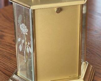 German Glass Encased Anniversary Clock10x8x5inHxWxD