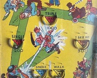Vintage Poosh-m-up Jr Tabletop Pinball Game1x11x17inHxWxD