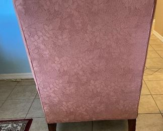 J Raymond Collection Wingback Chair Pink Floral Print #2