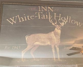 White Tail Hollow Inn Framed27.5x31.5inHxWxD
