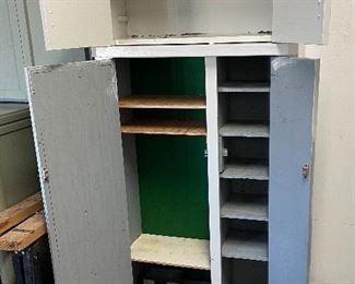 Grey Garage Cabinet Wood73x30x12.5inHxWxD