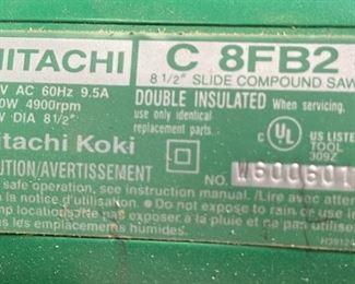 "Hitachi C8FB2 8 1/2"" Slide Compound Miter Saw"