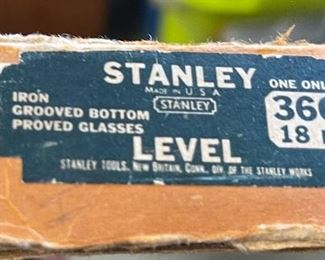Stanley 36G Cast Machinists Level in box18in Long