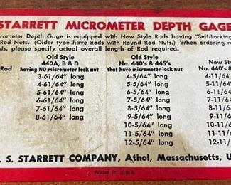 Starrett 445 Micrometer Depth Gauge