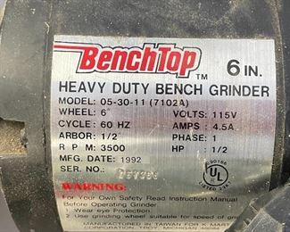6in Bench-top Grinder 05-30-11