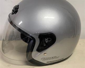 Harley Davidson Helmet Silver Dot HelmetXL