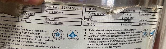 Garden Sun Patio Heater #1 HSS-A-SS