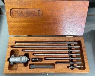 Small Lufkin Inside Micrometer Set