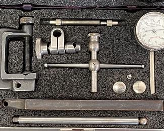 Starrett Universal Dial Test Indicator No. 196 Set With Case