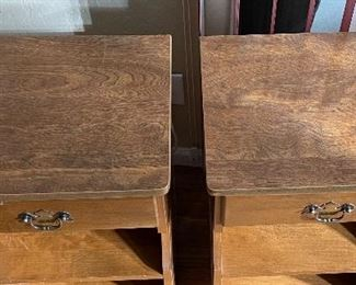 2pc Country Maple Nightstands PAIR28x17x14inHxWxD