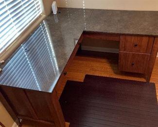 Contemporary Corner Desk31x53x59 & 59HxWxD
