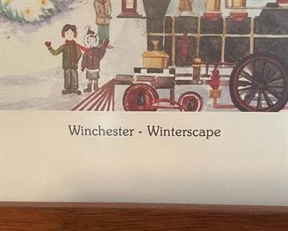 *Signed* Winchester Winterscape Framed Print22.5x27.5inHxWxD