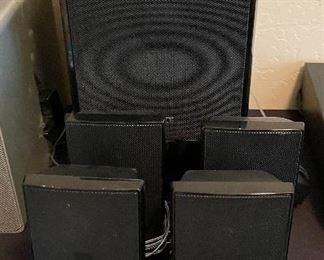 Sony 5 piece surround sound speakers