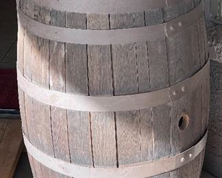 Vintage Oak Whisky barrel #1 35in h x 24 diameter