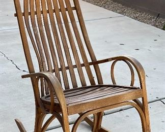 Amish Oak Slat Rocker Rocking Chair46x23x33HxWxD