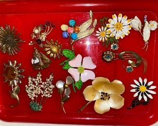 All Flower Pins Shown $24.00