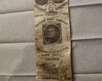 1888 Harrison Morton Jugate Campaign Ribbon