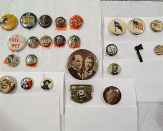 Political and Advertising pins