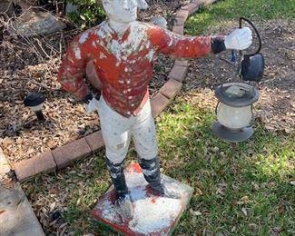 concrete lawn jockey