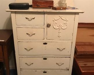 Painted Antique Oak Chest