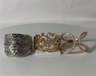 Assortment of 3 Highend Fashion Rings