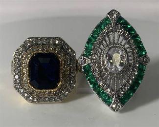 Pair of Art Deco Style Rings