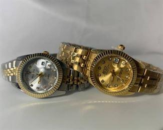 Pair of Ladies Designer Style Watches