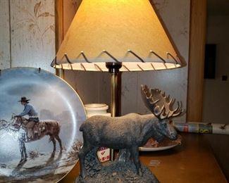 Moose Lamp