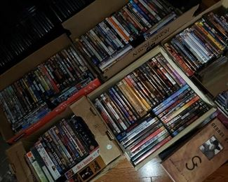 Lots of DVD's.