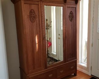 Antique Mirrored Armoire. Nice.