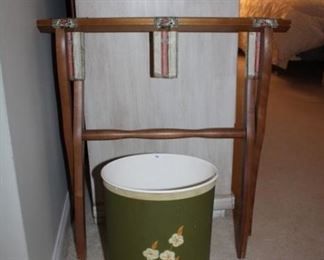 LUGGAGE STAND, WASTE PAPER BASKET