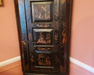 Antique Asian corner cabinet