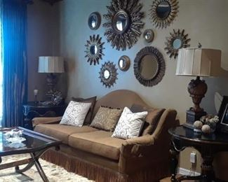 Silk upholstered sofa $300 is still available. All other items are sold.