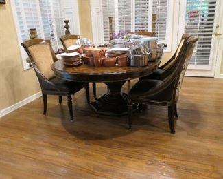 Coordinating Marge Carson smaller scale dining set