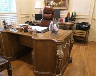 Large French style desk for an executive.
