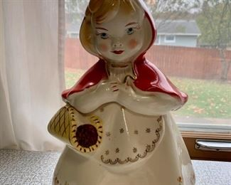 $250.00............Little Red Riding Hood Cookie Jar (P267)