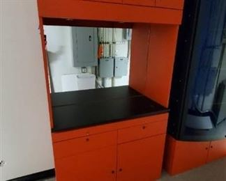 Orange Display Cabinet- No Keys