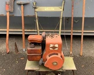 Antique Long Handle Tools and Rototiller