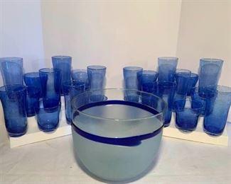 Blue Bubble Glass