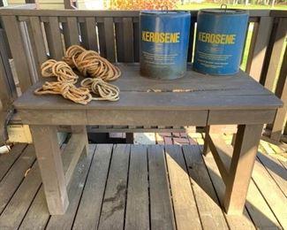 Garage Outdoor Utility Table
