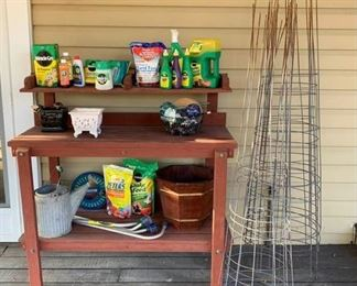 Redwood Potters Bench and Supplies